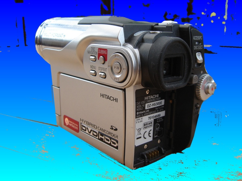 A Hitachi DVD HDD Camcorder - the so called hybrid camera. This one had suffered the disk error message before being sent in for data recovery.