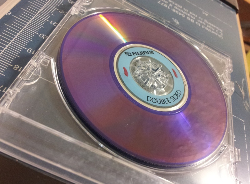 A Fujifilm DVD-RDS Double Sided 60 min 2.8GB which had one side recorded in a Panasonic Camcorder. The disc shows clearly the burn marks where data was recorded to it but the owner could not view any of the files.