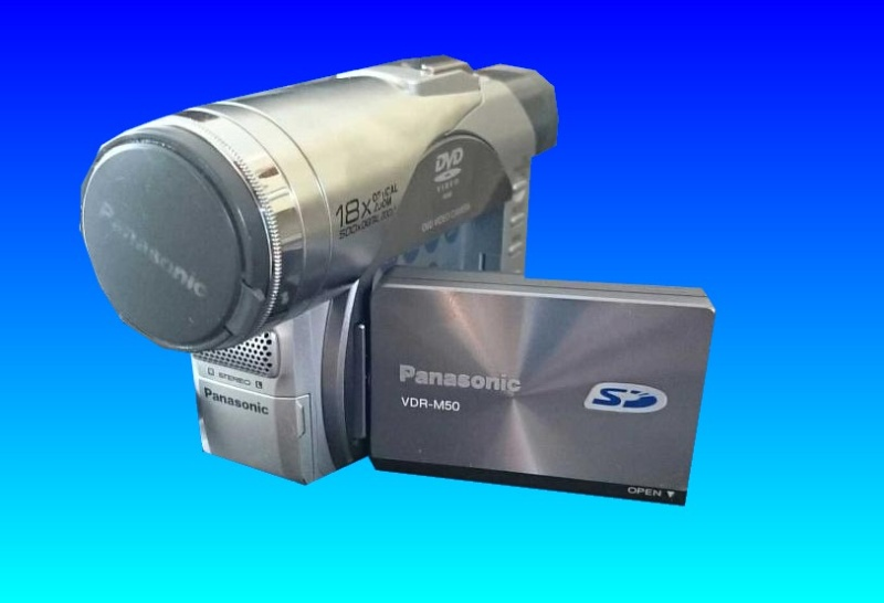 A Panasonic VDR-M50B camera sent to us for recovering video off the dvd. This camera can use DVD-RAM which is not a format that is so often used as mainly Hitachi and Pansonic are the only companies with cameras for it. We can also convert the DVD-RAM to normal DVD or video files saved to USB.