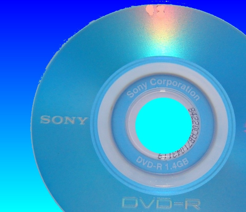 A Sony DVD-R received in our labs for video and photo recovery.