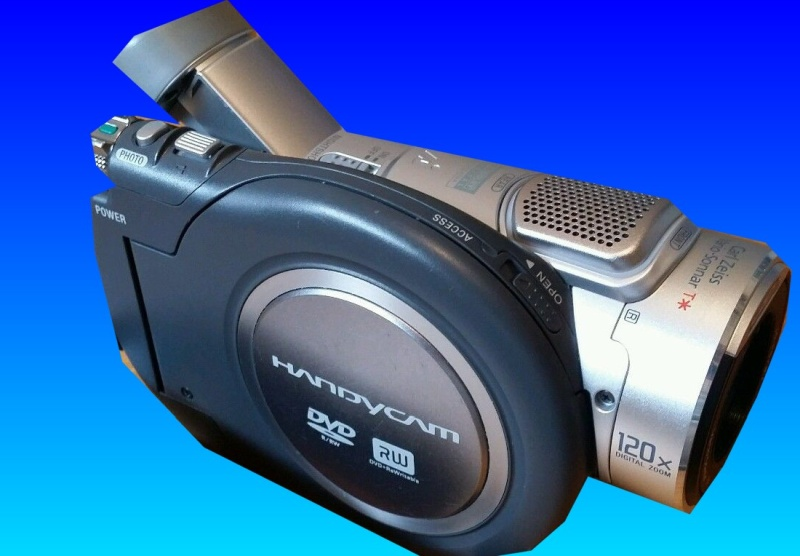 A Sony mini DVD Handycam - DCR-DVD404E in for video recovery.