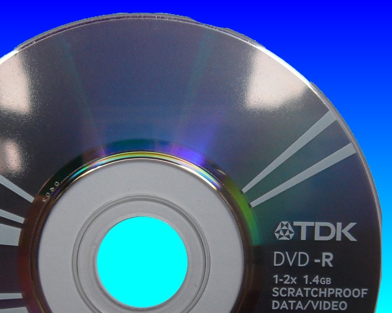 A TDK disk that had been erased and now needed the video files recovering.