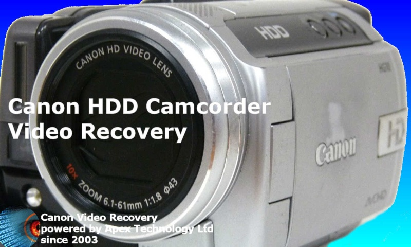 Canon HDD Camcorder Video Recovery.