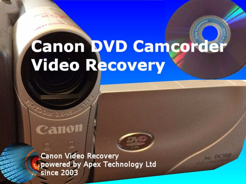 Canon DVD Camcorder Video Recovery