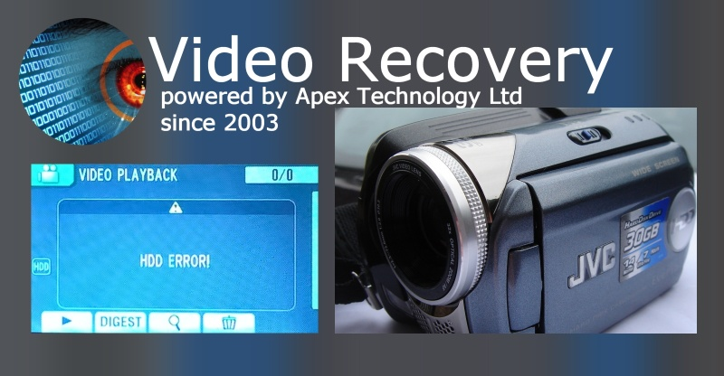 JVC Camcorder hdd error recover video clips movies from hard disk drive error when accessing camera failure to play back files of recorded videos usb transfer