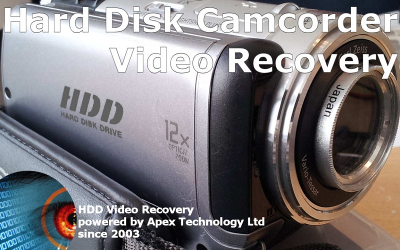 We Recover Video from Hard Disk Drive Handycam Camcorder HDD Camera Lost movie clips error message displayed empty reformatted formatted disc deleted videos HD