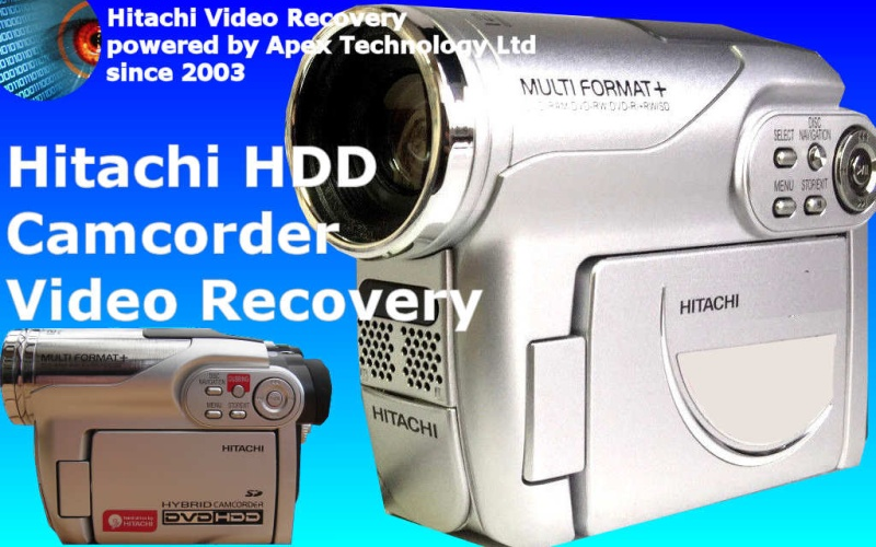 Hitachi HDD and Hybrid Camcorder SD Card Video Recovery.