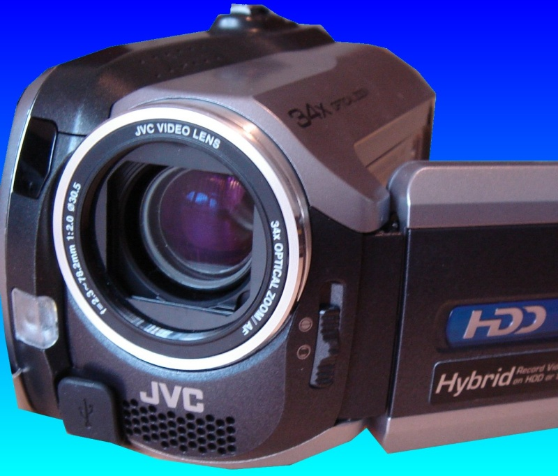 A JVC GZ-MG135EK camcorder with the lense cover open. The camera had a screen message to re-format the hard disk drive, however this would have lost all the videos so the client sent it to us for recovery.
