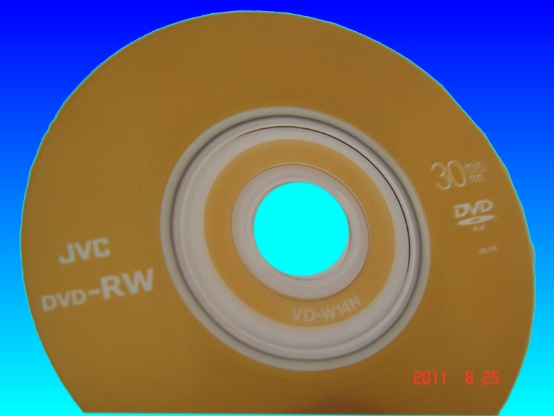 A JVC DVD-RW which did not manage to complete its finalization process and ended with the Sony Camcorder displaying C1302 error message.