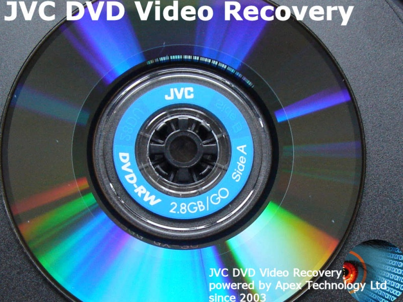 JVC DVD-R DVD-RW video recovery.