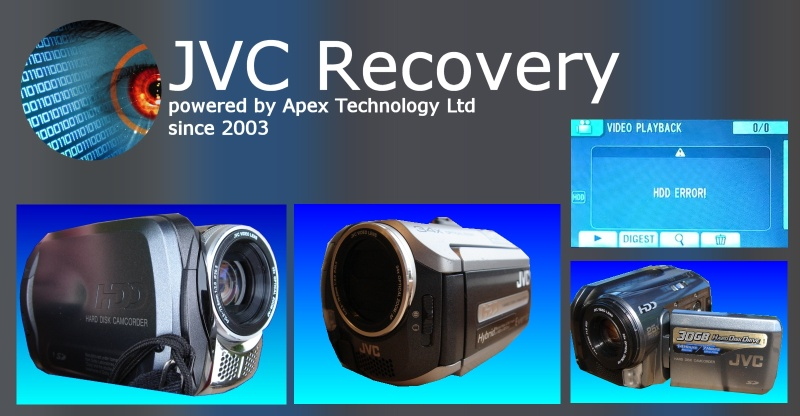 JVC Everio Video data recovery Hard Disc HDD Error HDD Camcorder Handycam recording failed recovery deleted video files reformatted hard drive
