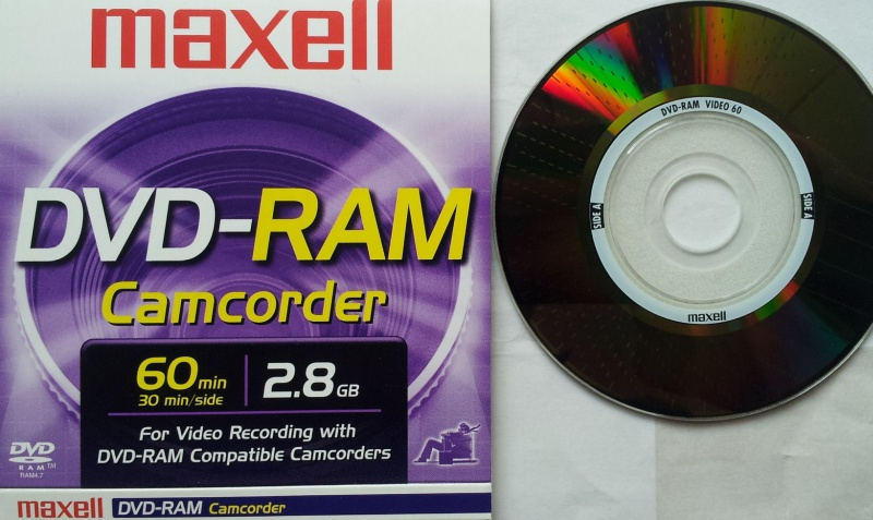 A mini dvdram disk that was used in a Panasonic VDR camera. The camcorder showed no data on the disk so was sent to us for recovery of the video. This particular disk is made by Maxell.
