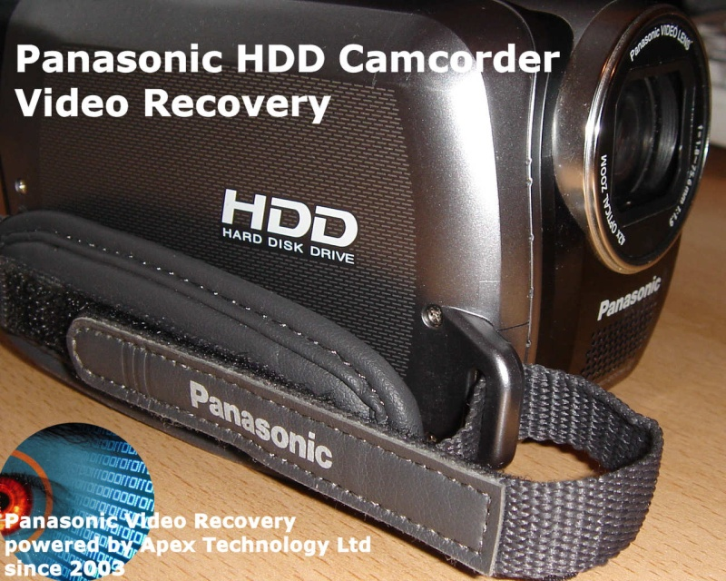 Recover video from Panasonic HDD camcorders when camera fails to start or accidental formatting or deletion of clips. Also transfer video to pc phone laptop usb