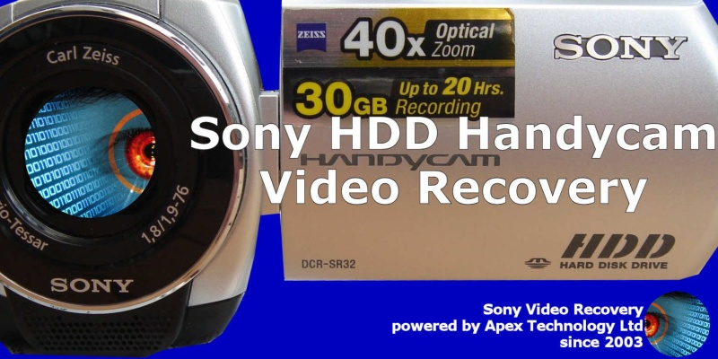 Recovering video from Sony Handycam error E:20:00 E:31:00 E:61:00 E:61:10 E:61:11 E:62:00 DCR HDR HDD Hard Disc Error Deleted clips Formatted Format Drive