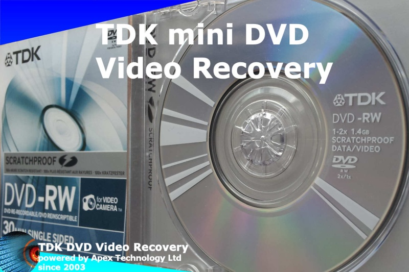 TDK mini DVD video recovery