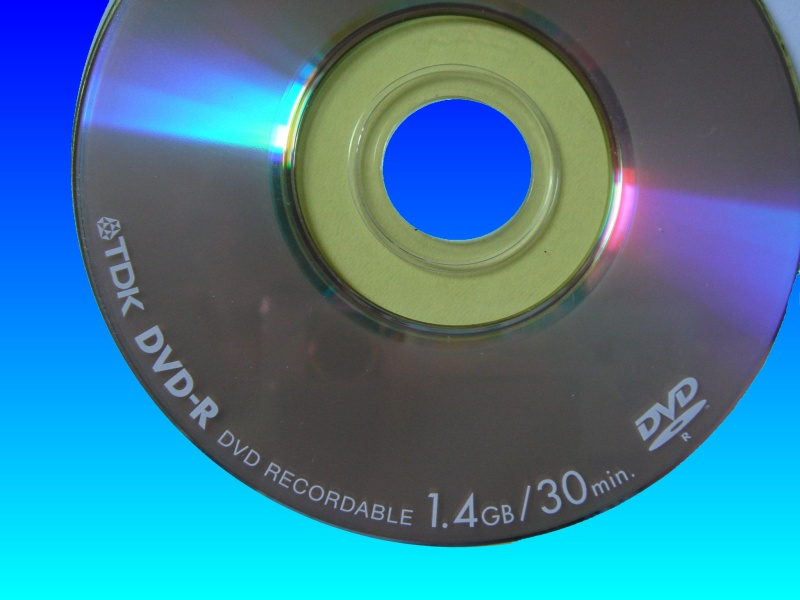 A TDK mini DVD-R disk used for video recording in camcorders. The disks commonly may show C1302 error on Sony Handycams.