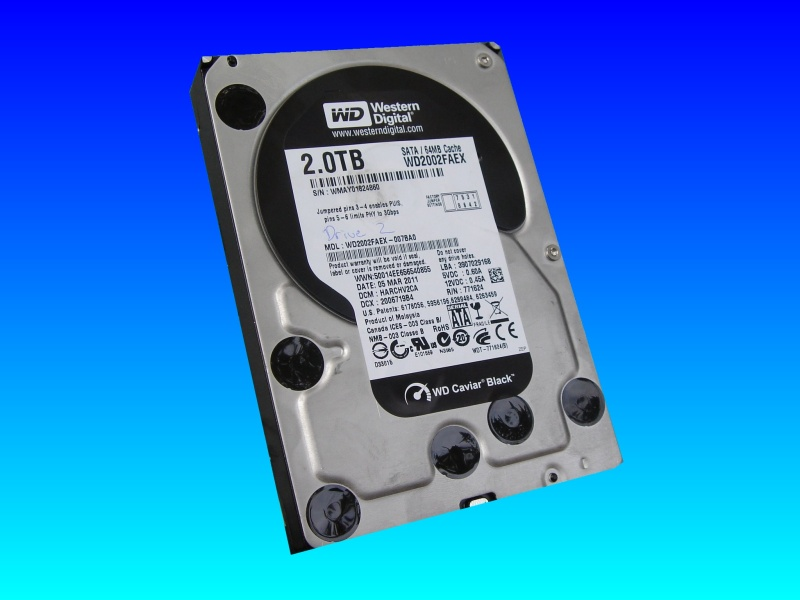 A Western Digital internal hard drive used in video recorders and computers that was sent to us to recover the video clips. Due to videos having been deleted and then the drive re-used over the years, the video scenens were fragmented across the drive, hwoeevr we can usually take the pieces and re-join them to make the completed video.
