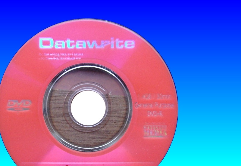 A DataWrite DVD that had it's surface badly scratched but contained important data files that needed to be recovered.