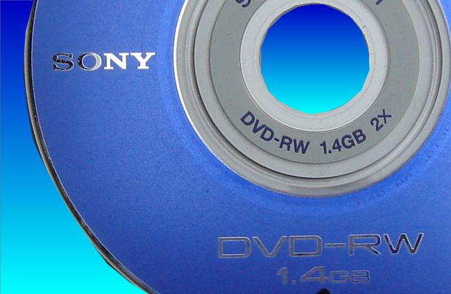 A Sony DVD-RW that caused the Handycam to display C:13:00 disc dirty error message. Even though the disc was clean it would not play so video recovery was required.