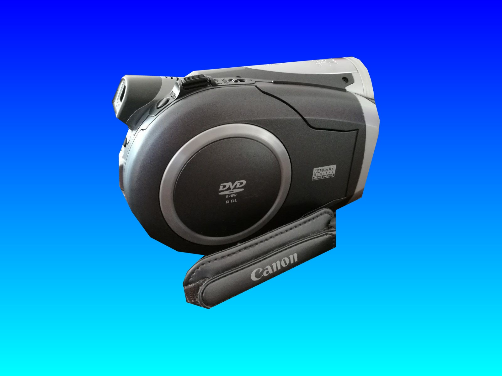 A Canon DC-300 camcorder that uses mini DVD and dual layer discs to record video. The recordings are sometimes lost due to disk finalization problems however they can be sent to us for recovery.