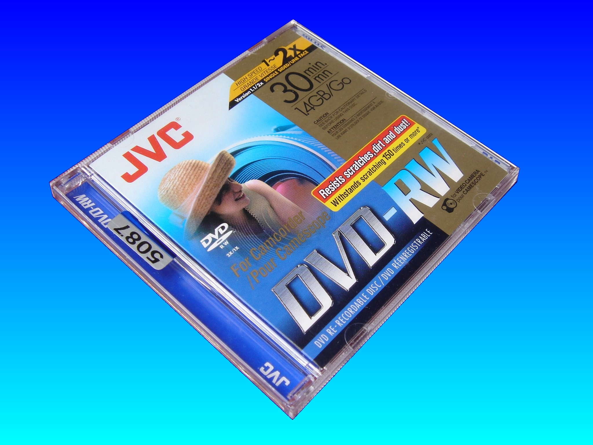 The very popular JVC DVD-RW mini dvd disk. This one was used in an Hitachi camcorder and needed the movie recovering off it.