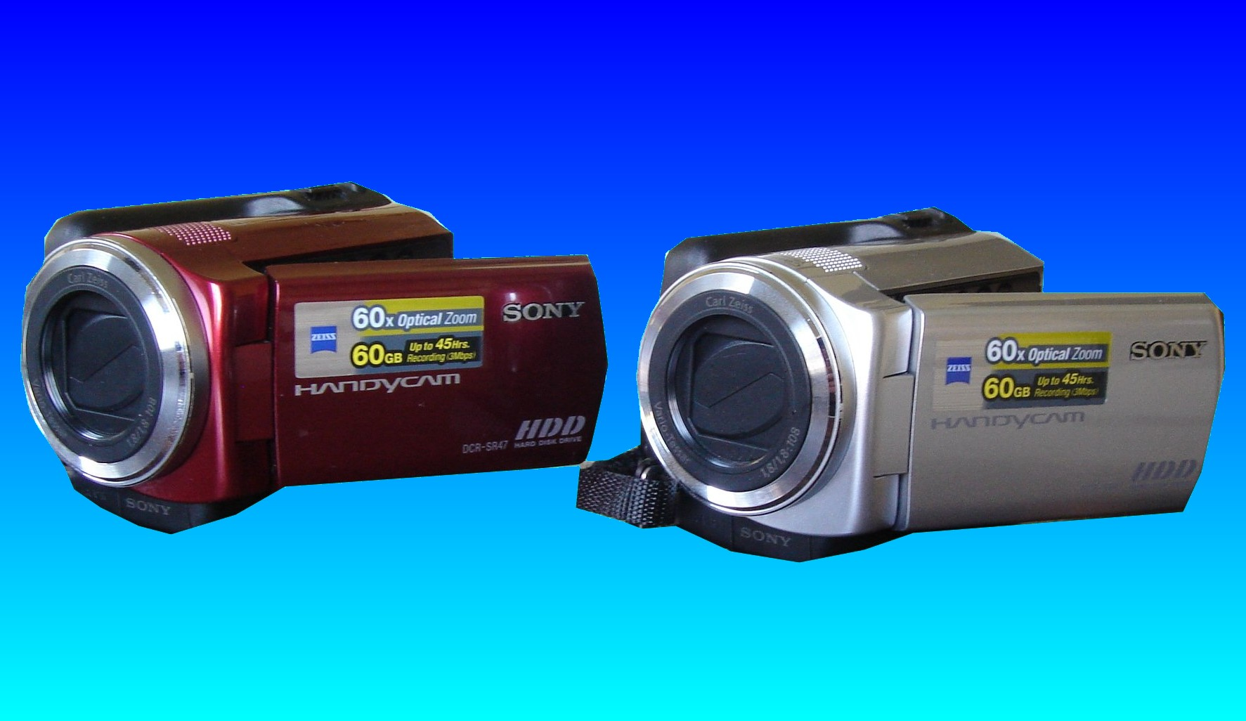 Here are two Sony DCR handycams that used an HDD to store the video. These cameras came from the same customer who had experienced data loss when they formatted the hard drive and deleted all the video clips.