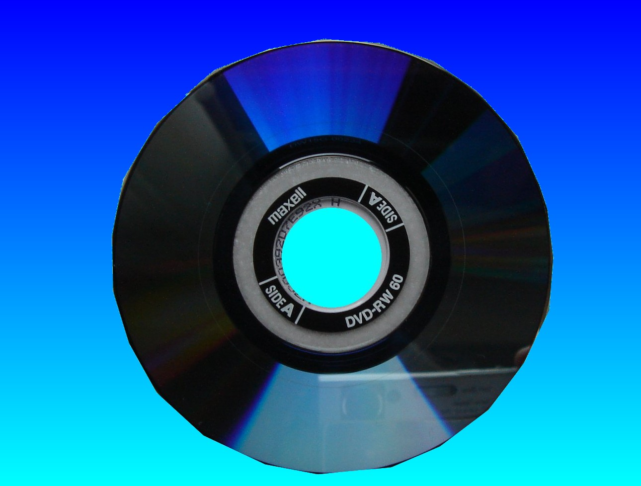 DVD showing empty when placed in camcorder or that the disc may be dirty.