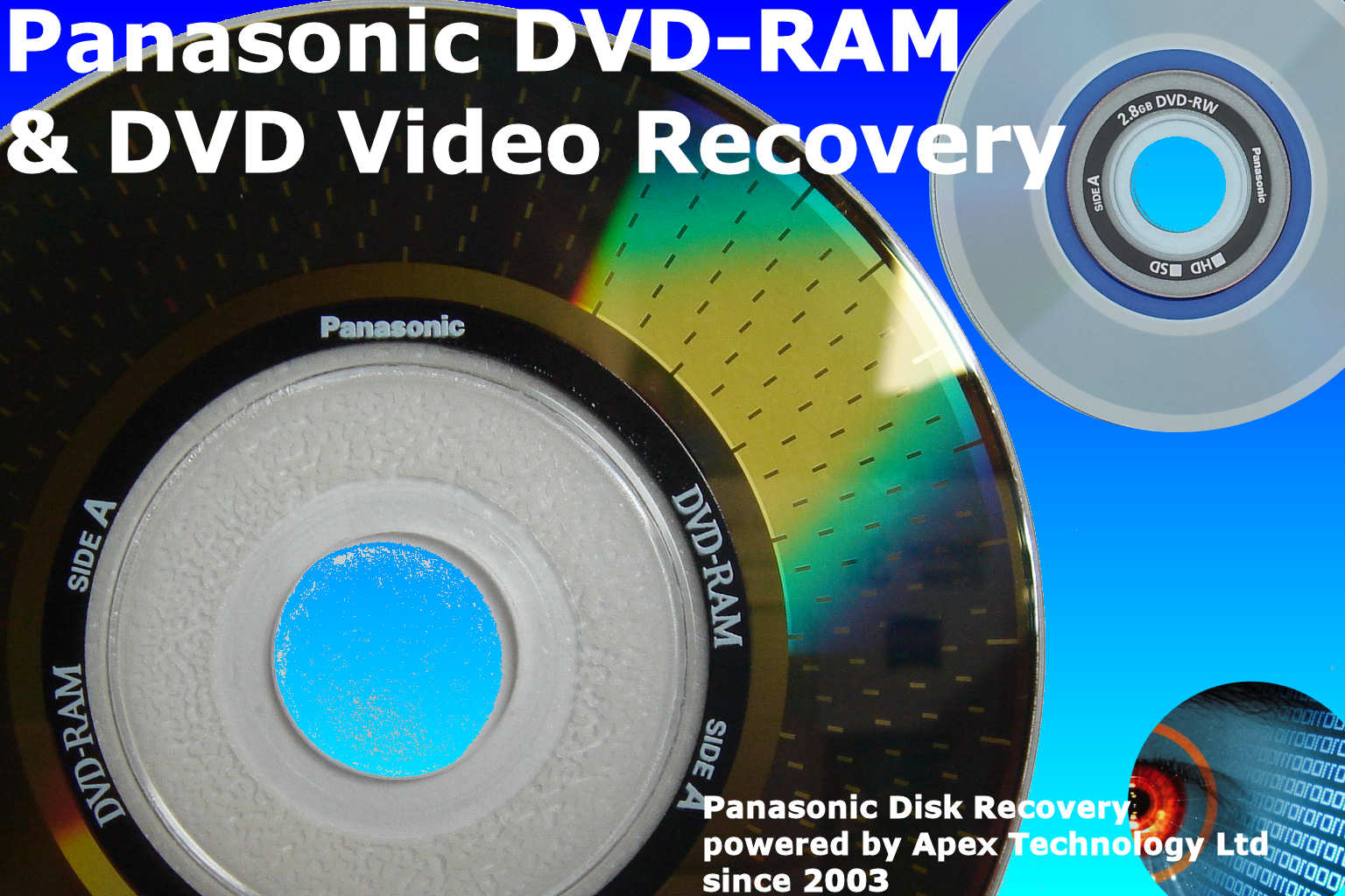 Panasonic DVDRAM corrupt disk video recovery conversion to DVD