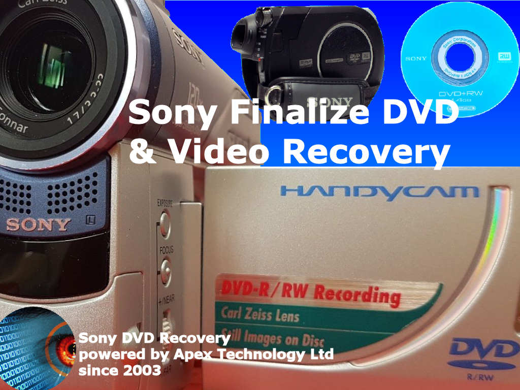 Sony finalize dvd disc and video recovery