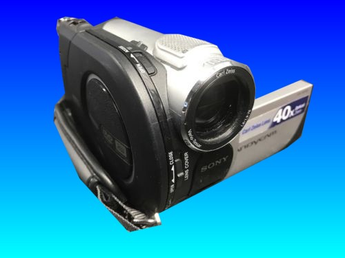 A Sony DCR-DVD505 which showed unsupported format after the an error concerning the closing of the dvd door ie. DVD door open during finalising of the disc. This camera was then given to us to recover the video data off the disks.