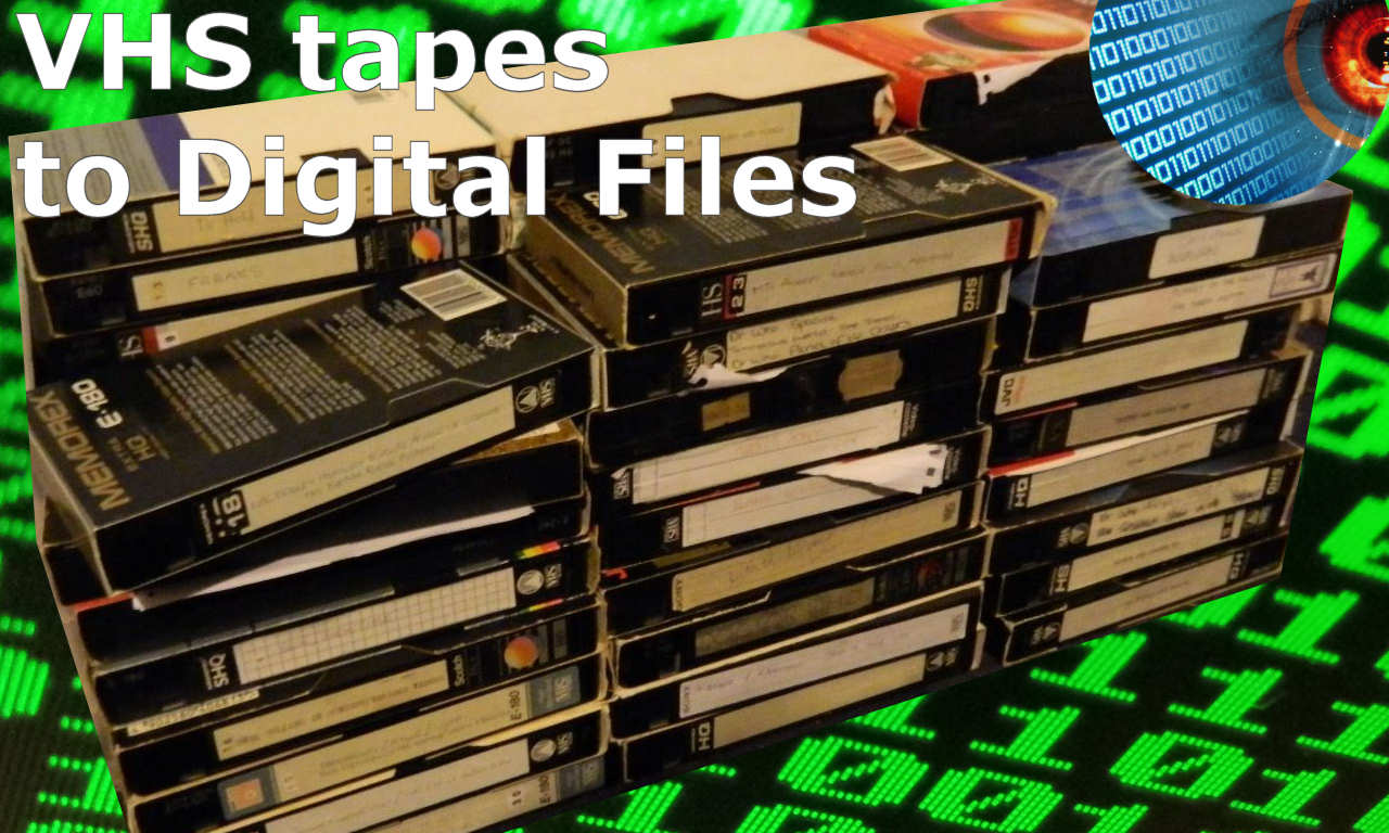Digitize VHS tapes and Cassettes for Computer Playback and Editing