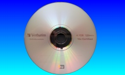 A 4.7GB full size dvd used in a Panasonic DMR-E50 DVD video recorder which needed recovery after an error message occurred.