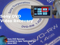 Sony DVD-RW Finalize disc recover video empty or blank disk