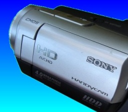 A Sony HD handycam in for video data recovery.