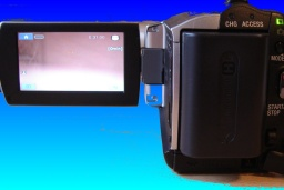A Sony Handycam with LCD display showing the e:31:00 error message. The camera would no longer allow recording or access to the videos on the internal hdd hard disk.