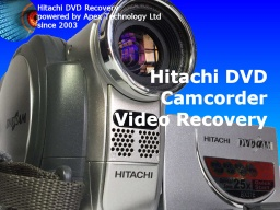 Hitachi mini DVD Camcorder disc error format recovery
