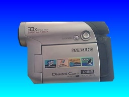 A Samsung DVD camcorder model number VP-DC161 that recorded video to a Maxell mini DVD-RW disc. The owner could not finalize the disc so they needed the footage recovering.